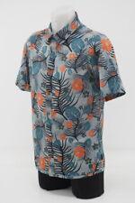 New! Pearl iZumi Men's Summit Button Up Shirt Casual Cycling Medium Gray/Palm
