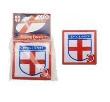 ENGLAND St George Cross Football Badge Sliding Tile Puzzle Party Bag Filler Boys