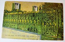 Louisiana LA News Orleans Corn Fence Postcard Old Vintage