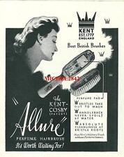 Publicité 1932 ALLURE brosse à cheveux coiffure hairbrush advertising