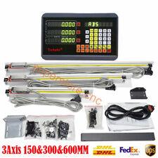 "Set 6"" 12"" 24"" Linear Scale Digital Readout 3Axis DRO TTL Sensor for Mill Lathe"