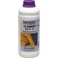 Nikwax TX DIRECT 1 Litre WASH-IN Bottle Waterproofs 10 Jackets Wet Weather Gear