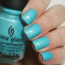 CHINA GLAZE nail lacquer polish with hardeners 1467 what i like about blue 14ml