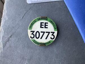 Vintage Psv Bus Conductor Buses Transport Uniform Badge EE Region Public Ser