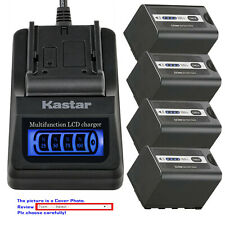 Kastar Battery LCD Quick Charger for AG-VBR59 AGB23 Panasonic AG-DVX200PB Camera