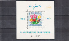 AFGHANISTAN 1963 FLOWERS S/S MNH VF