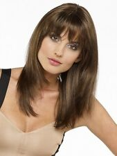 Fashion Straight Women Brown Bangs Long Medium Natural Cosplay Hair Full Wigs