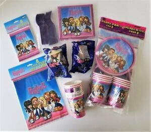 2002 BRATZ Complete PARTY BIRTHDAY Supplies 8 Plates Loot Bags Invites Cups READ