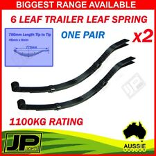 Trailer Parts 6 Leaf SLIPPER Spring and Eye One Pair Black 1100kg Leaf Springs