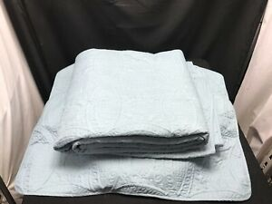 Chezmoi Collection King Size Quilted Blanket and Two Pillow Shams