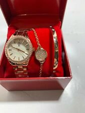 Jennifer Lopez FMDJL551 Crystal Watch & Bracelet Set