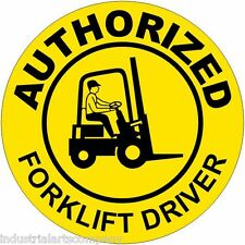 """Authorized Forklift Driver 2"""" Hard Hat Sticker Osha Label Safety Committee Decal"""