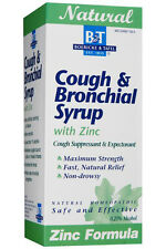 Cough & Bronchial Syrup with Zinc  4 oz, Boericke and Tafel, Natural Relief