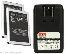 2 replacement battery & Wall Charger for Samsung Replenish Sprint sph-m580 M820