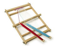 LEGLER TRADITIONAL LARGE  DELUXE TAKE APART  WOODEN WEAVING LOOM CRAFT SHUTTLES