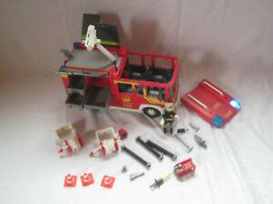 Playmobil 4821 - Feuerwehr-Rüstfahrzeug LKW Figur Blaulicht Sirene + mehr