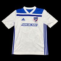 Adidas Climate Mens FC Dallas MLS Polyester Soccer Shirt White Blue Size XL