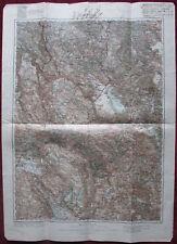 1909 Original Military Topographic Map Plevlje Plevlja Montenegro Austro-Hungary