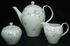 JOHANN HAVILAND china BLUE GARLAND COUPE pattern TEAPOT creamer SUGAR BOWL Set