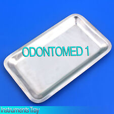 "Medium Instrument Tray Stainless Tattoo/Piercing Medical 13 1/2"" x 9 1/2"" x 3/4"""