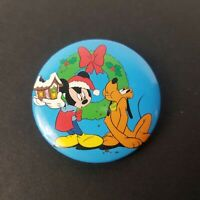 """Vintage Disney Mickey Mouse and Pluto Christmas Theme Pins Pinback Buttons 1.75"""""""