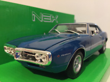Pontiac Firebird 1967 - Bleu 1:24 Echelle Welly 22502B