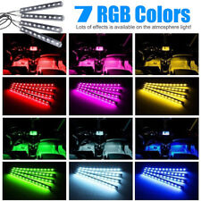 RGB 7 Color 9 LED Neon Light Strip IR Remote Control For Car Interior Lighting