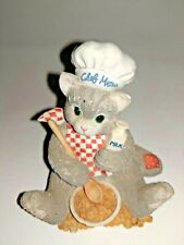 Enesco Calico Kittens You're The Chef's Meow 1996 Chef Hat Cook Cat Kitty
