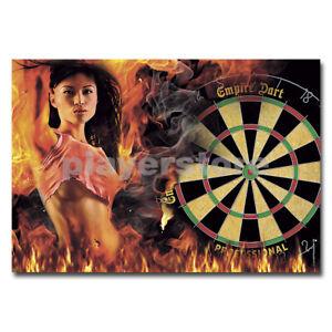 """Empire Dart Dart-Poster """"Dart Lady on fire"""" DIN A1"""