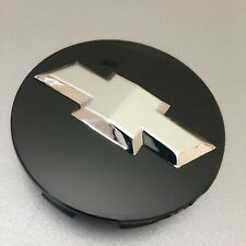 "Black Chrome Wheel Rim Center Cap Chevy Silverado Suburban Tahoe 83MM 3.25"" 3D"