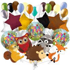 29 pc Woodland Creatures Happy Birthday Animals Balloon Bouquet Party Decoration