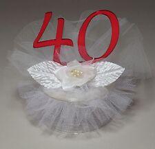 40th Wedding Anniversary Cake Topper (JK34-40)
