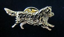 Australian Shepherd Dog Brooch or Pin -Fashion Jewellery Gold Plated, Stud Back