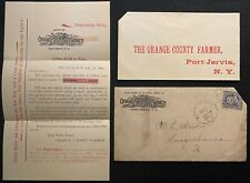 1894 *Orange County Farmer* Port Jervis N.Y. Subscription+Cover+Envelo pe!