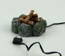 Feuerstelle, Lagerfeuer mit Ästen, für Weihnachtskrippe. Für 3,5V Trafo