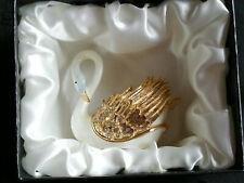 More details for swan - cloisonné trinket box - enamel jewel encrusted - gift boxed