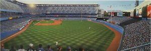 Bill Goff Good Sports Art Lithograph of Yankee Stadium signed by T. Kolendra