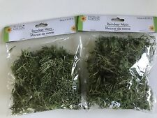 Reindeer Moss Two Bag 24 Cu In Each Natural Green Craft Potted Plant Topper NEW