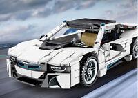 625PCS MOC Technic BMW I8 Racing Sport Car Building Blocks Bricks Toys Model