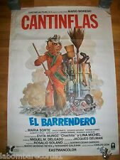 POSTER - EL BARRENDERO - CANTINFLAS - MARIO MORENO - 70X100