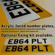 NUMBER PLATES 100% UK ROAD LEGAL ACRYLIC FACED PAIR OF REGISTRATION PLATES