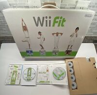 Nintendo Wii Fit Balance Board In Box + Wii Fit Plus Bundle!!