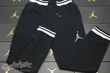 NIKE JORDAN MENS VARSITY SWEAT PANTS SZ M BLACK WHITE COOL GREY 619705 010