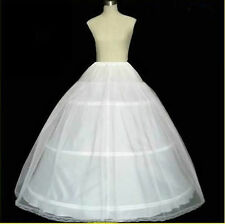 White 3 hoop 2 Layer petticoat Crinoline Underskirt bridal wedding dress Gown