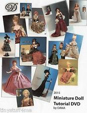 1:12 VISUAL DOLL MAKING MADE EASY- CD - MINIATURE DOLL TUTORIAL BY DANA - 2015