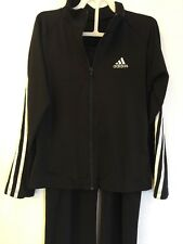 Girls Black Adidas Sports Suit with rhinestones on the Back Size CL