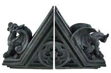 "7"" Tall Celtic Shamrock Trinity Triangle Gargoyle Bookend Set Stand Figurine"