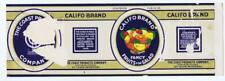 Califo Brand fruit salad can label The Coast Products St. Louis MO  #43