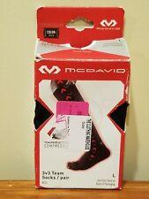 McDavid 8834 Targeted Compression 3v3 Team Socks - Pair - Black - L