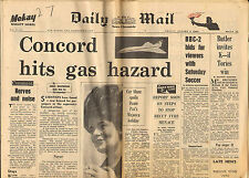 daily mail newspaper . concord hits gas hazard ! ( belt of air )